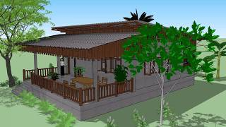 บ้านพอเพียง  ( No.069 )  SketchUp by :  i.pakdee