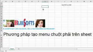 Lập trình Excel VBA Tạo menu phải trên sheet - bluesofts.net