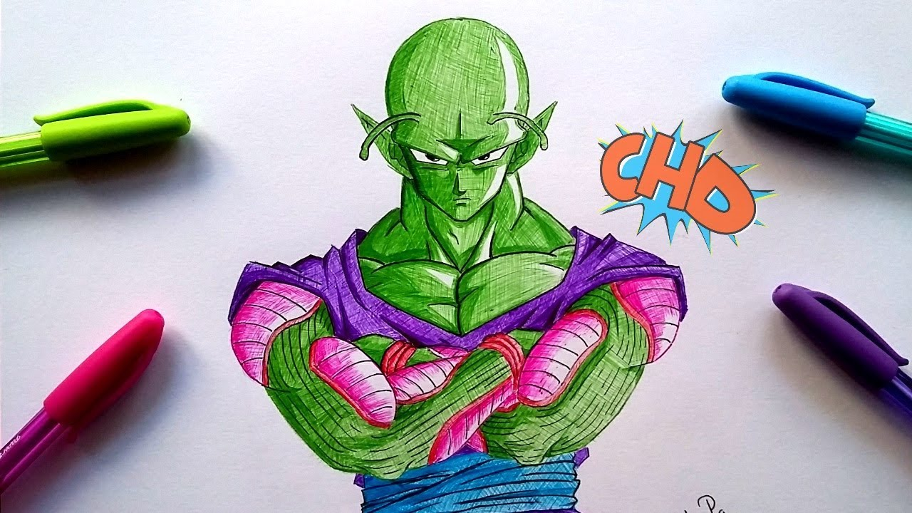 Como Dibujar A Piccolo Dibujo Con Boligrafos How To Draw Piccolo