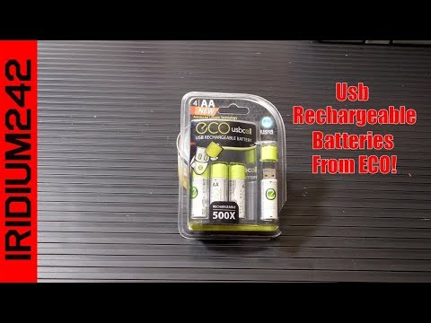 Eco Cell USB Rechargeable Lithium Batteries, Perfect For Preppers!