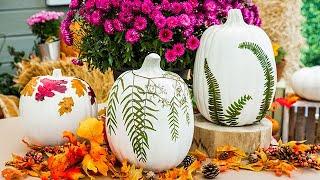 DIY Fall Leaf Pumpkins - Home & Family