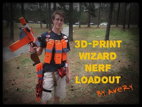NERF LOADOUTS: The 3D-PRINTER HEAVY CLASS ft. Avery