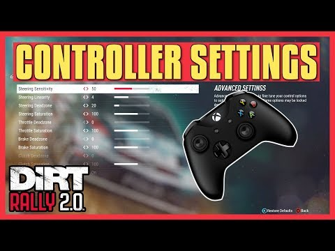 DiRT Rally 2.0 | Controller Settings Tutorial (Explanation + Adjustments)