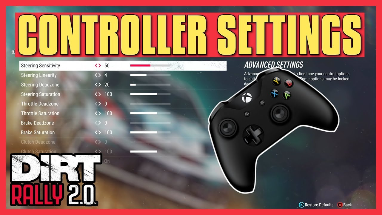 DiRT Rally 2 0 | Controller Settings Tutorial (Explanation + Adjustments)