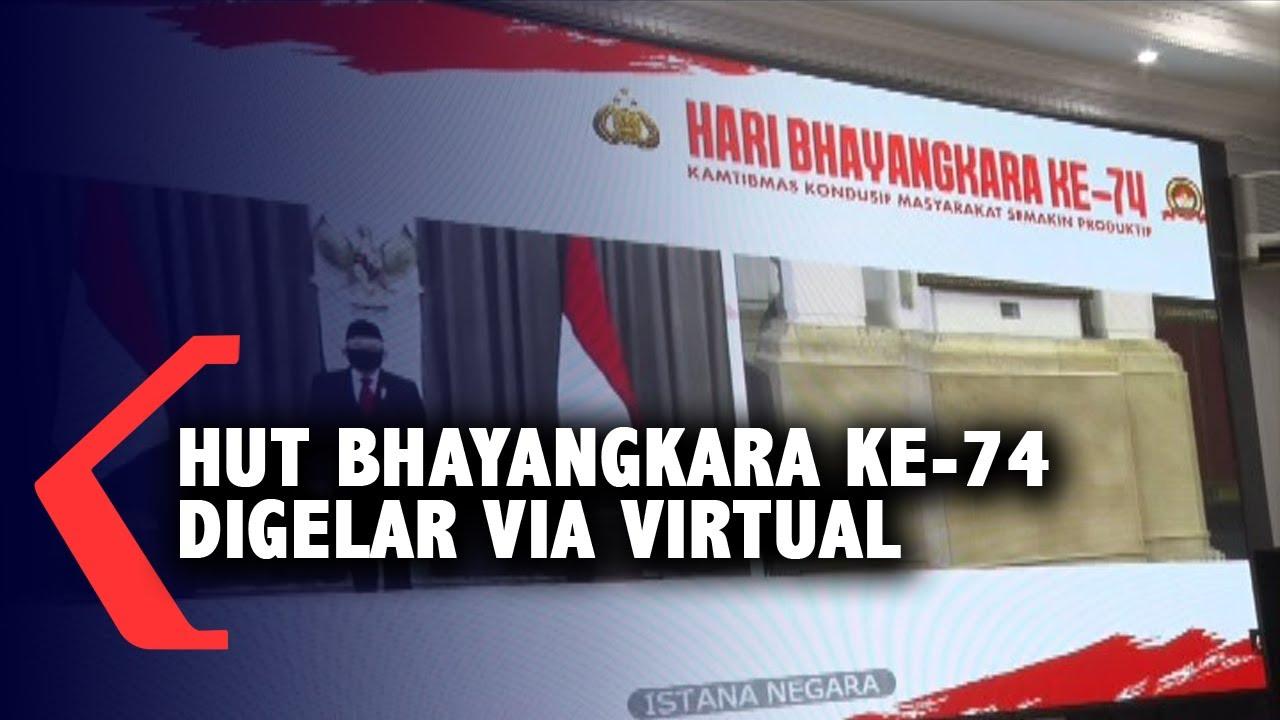 Gelaran HUT Bhayangkara ke-74 Dilakukan Secara Virtual