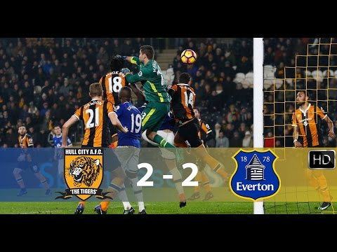 Hull City vs Everton   2 - 2   All Goals & Highlights   HD   30/12/16