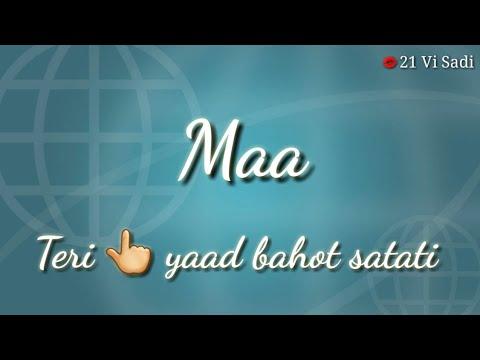 Dedicated To All Mom 💞   Maa Ki Yaad Sad Poem Whatsapp Status   Rj Vashisth   Hindi Poem Status