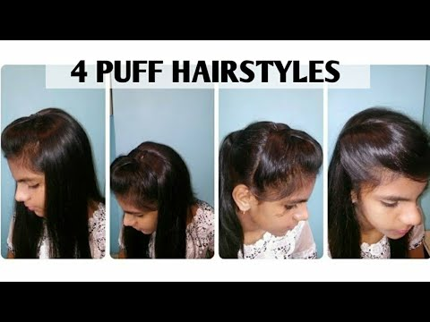 1 Minute Perfect Puff Hairstyle4 Quick Easy Hairstyle For Medium