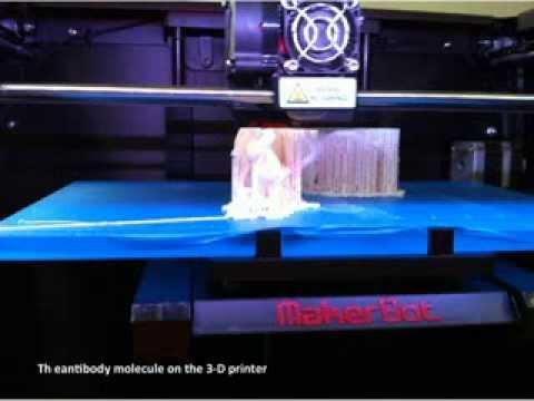 3D printing of macromolecular models