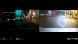 2채널 블랙박스 샤크안테나 후방감시카메라 적용 영상