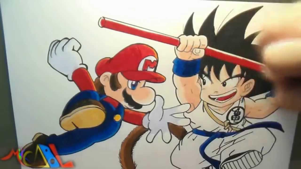 Dibujando a Mario Vs Goku  YouTube