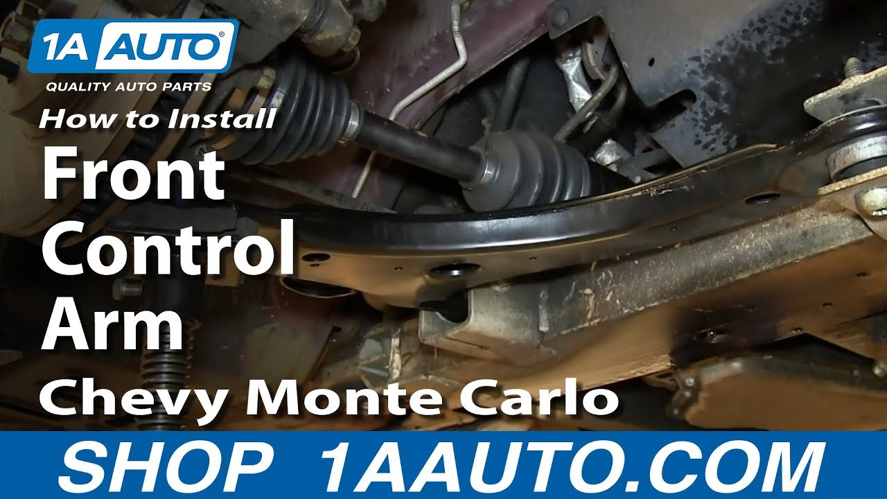hight resolution of how to replace control arm ball joint 00 07 chevy monte carlo