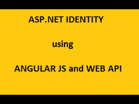 Authenticate User Using AngularJS And Web API - Tutorial6
