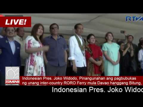 President Duterte and President  Widodo of Indonesia lead the launching of the Davao-General