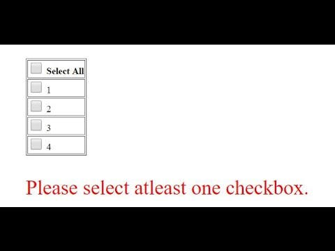 CheckAll Checkboxes And At least One Checkbox Checked Validation In  AngularJS
