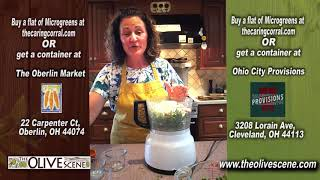 Cooking With The Olive Scene - Pea Shoot Pesto