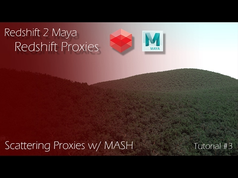 Redshift 2 Maya - Tutorial #3 - Redshift Proxies & MASH - YouTube