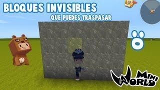 Como hacer Bloques invisibles en Mini world 😱Para trollear a amigos 😆