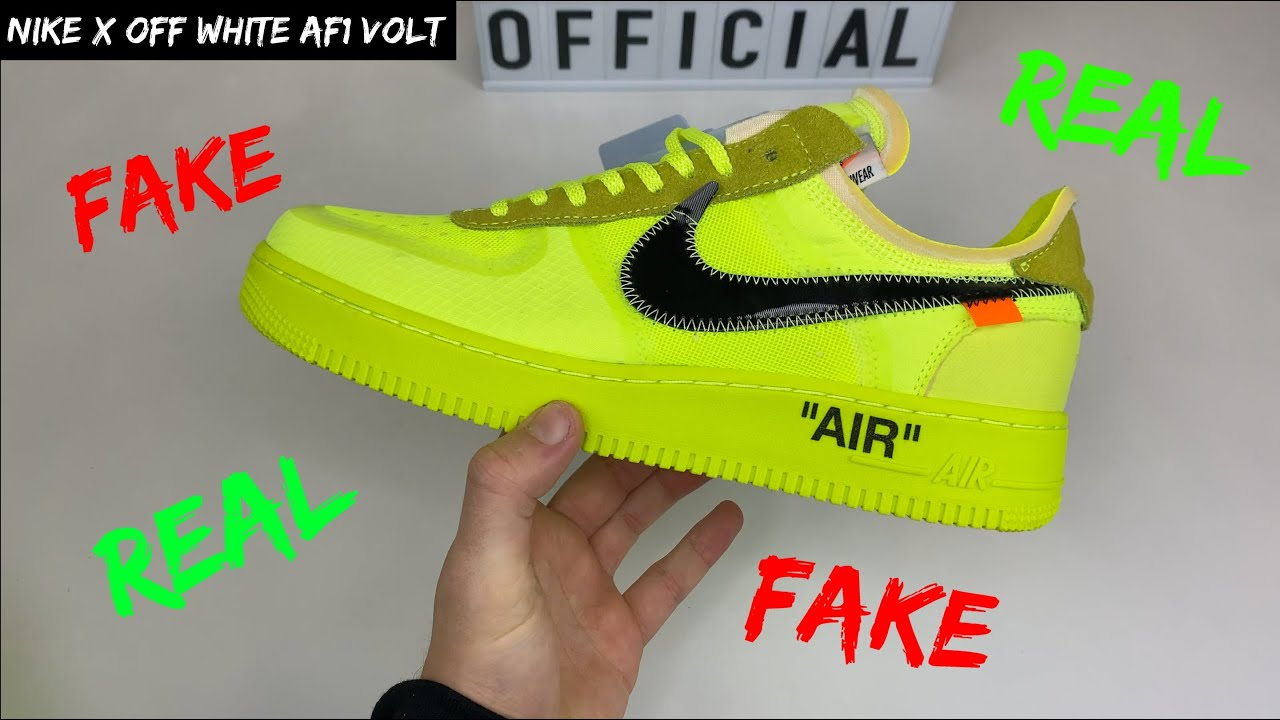 nike air force 1 off white false