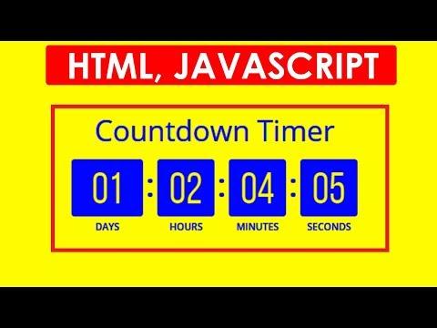 [Hindi] How To Create Countdown Timer Using HTML, Javascript