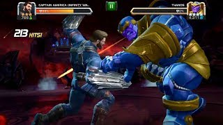 Marvel Contest of Champions Captain America Infinity War Vs Thanos