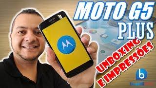 Moto G5 Plus - Conheça a Versão mais Poderosa! Unboxing e Impressões em Português