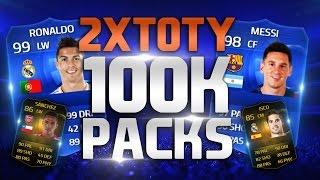 FIFA 15 | 2 TOTY IN PACKS | 25 X 100K PACKS | 8 IF IN PACKS |