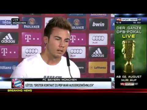 Mario Götze press conference full length Welcome to Bayern Munich 02 07 2013