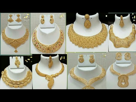 Modern 22k Pure Gold Necklace Set Designs Collection 2019 Latest
