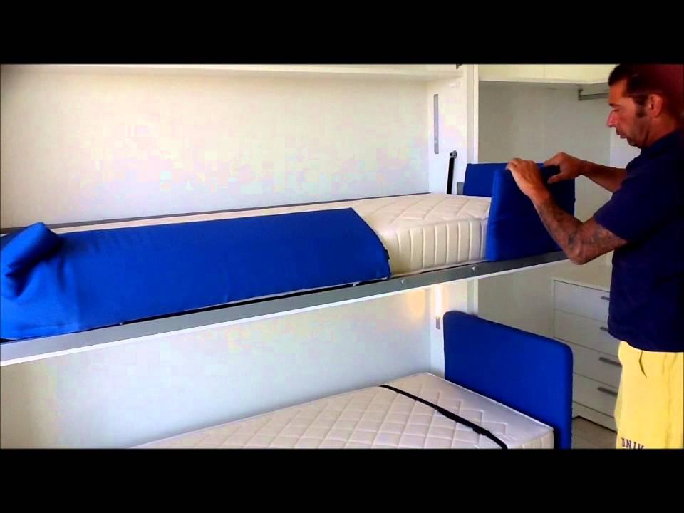 Arredamento camera singola Misano Adriatico con il letto