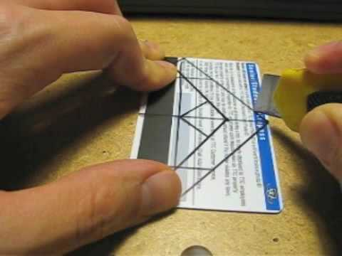 hot sale online f9a7c a4d98 DIY Iphone Holder tutorial using one credit card - YouTube