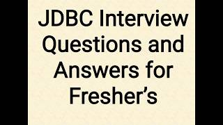 Video JDBC Interview Questions And Answers download MP3, 3GP, MP4, WEBM, AVI, FLV Juli 2018