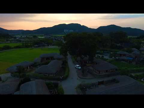 Oeamri Folk Village (외암리 민속마을) in South Korea from above - DJI Phantom 3