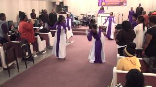 """God Blocked It"" - Queen Memorial Church of God in Christ Praise Dancers"