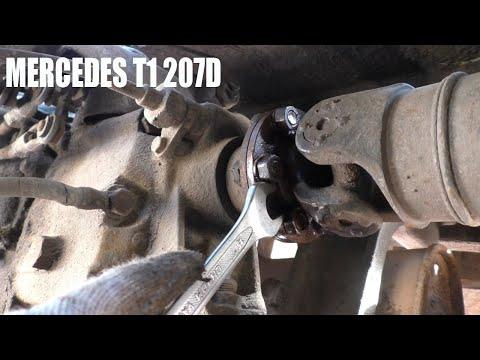 MERCEDES T1 207D| Демонтаж кардана, ручника, рулевого редуктора, дворников и проводки!