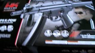 unboxing h mp5 k pdw co2 bb gun air pistol