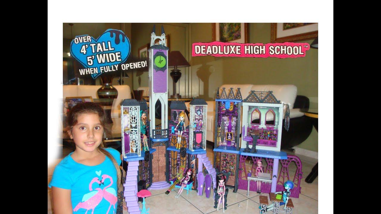 4 Feet Tall Monster High Dollhouse Deadluxe High School Review