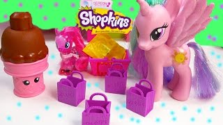 MLP Princess Celestia Shopkins Season 2 Pack Blind Bags My Little Pony Pinkie Pie Toy Unboxing