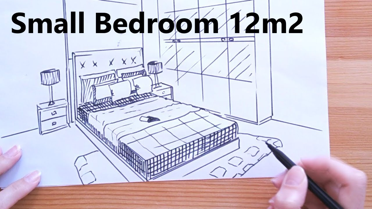 Small Bedroom 12 M2 Sketch Interior Design Ideas Youtube