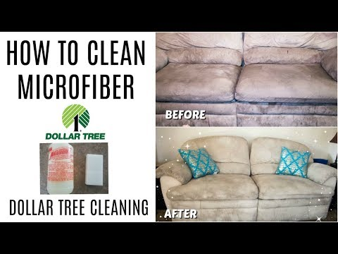 HOW TO CLEAN MICROFIBER  | DOLLAR TREE CLEANING