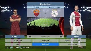 As roma vs ajax amsterdam, stadio olimpico, pes 2016, pc gameplay, pcgameplay, konami