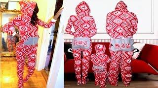 DIY Hooded Dropseat Footed Onesie Pajamas!