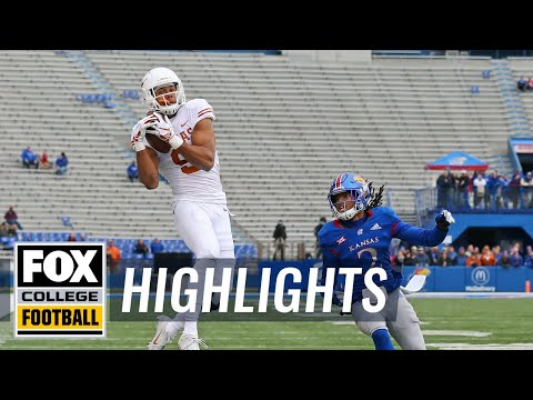 Kansas vs. Texas | FOX COLLEGE FOOTBALL HIGHLIGHTS
