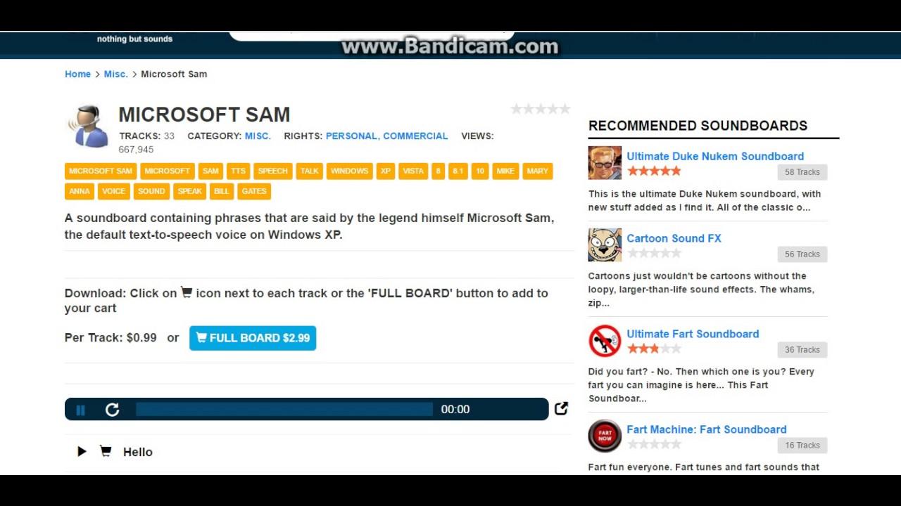Microsoft Sam voices by Speakonia
