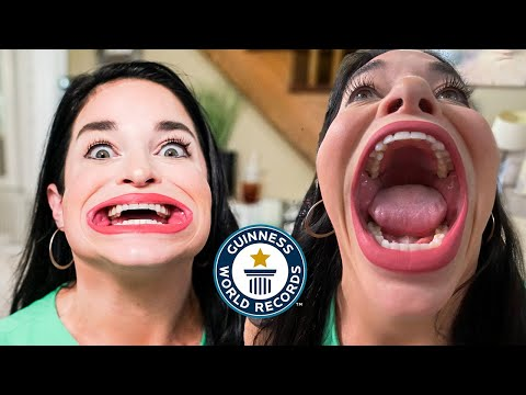 Download She has the world's largest mouth! - Guinness World Records