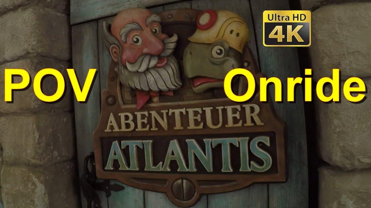Abenteuer Atlantis Wartebereich 4k Onride Pov Europa Park Abenteuer Atlantis Dark Ride