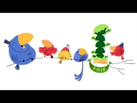 New Year's Eve 2016 Animated Google Doodle & Dance Music