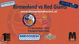 Binnenland Heren 1 vs Red Giants