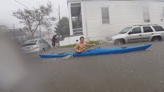 New Orleans Flooding, Mid-City cars underwater
