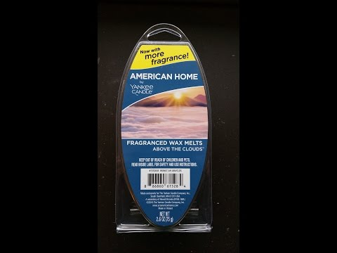 "Yankee American Home ""Above the Clouds"" - Scented Wax Melt Review"